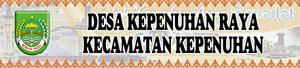 Banner Desa Kepenuhan Raya